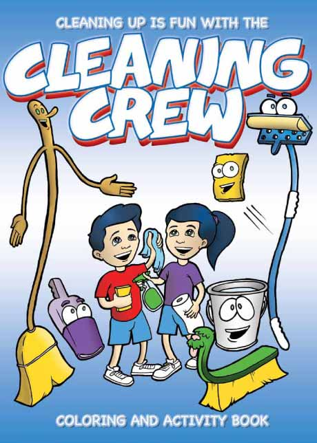 Cleaning Up Is Fun With The Cleaning Crew on Water Safety Coloring Pages