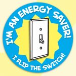 """I'm an Energy Saver! I Flip the Switch!"" Stickers"