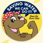 """Saving Water, We Can Do It!"" Sticker Roll"