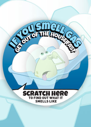 Natural Gas Scratch And Sniff Stickers