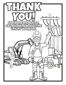 Community Helpers coloring page | Free Printable Coloring Pages | 300x232